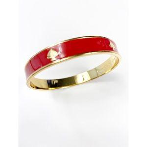 Kate Spade Red & Gold Enamel Bangle Bracelet